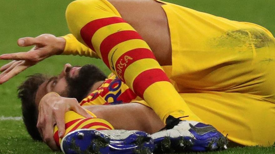 Grave lesión de Gerard Piqué