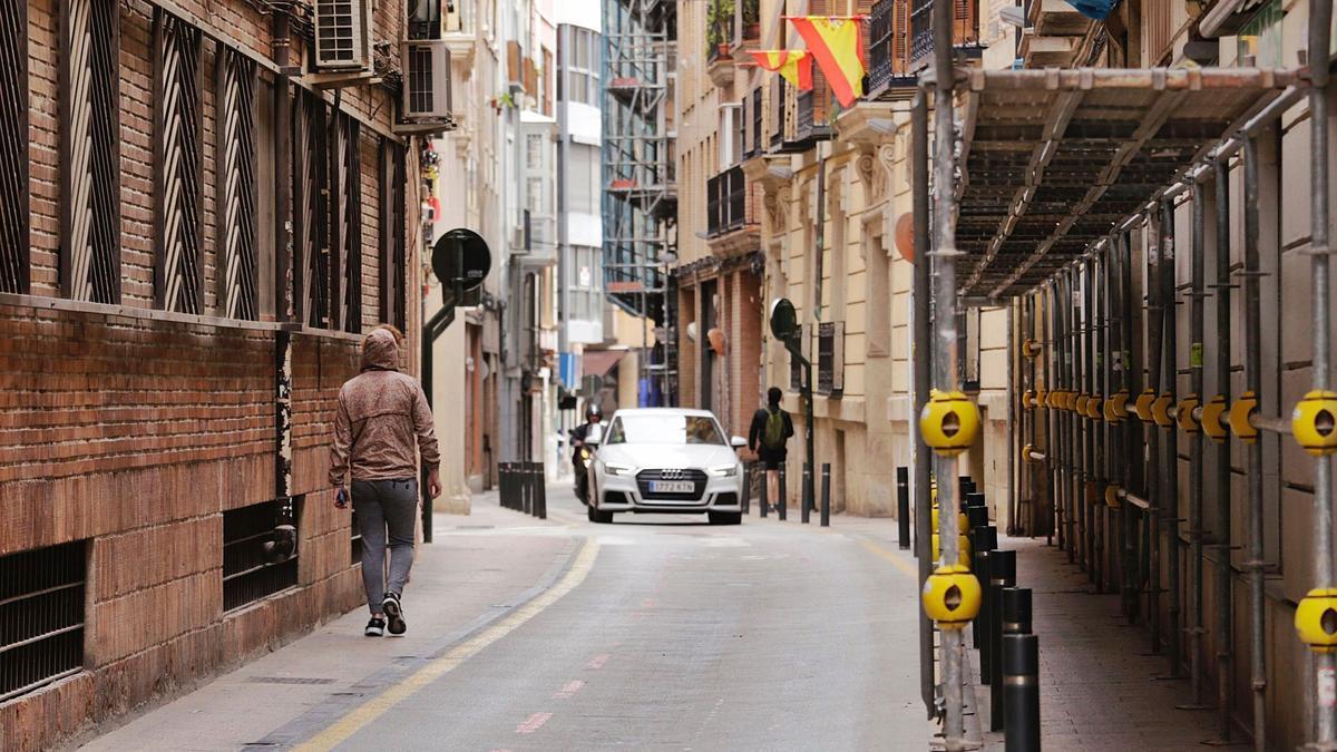 Calle San Nicolás, en Murcia.