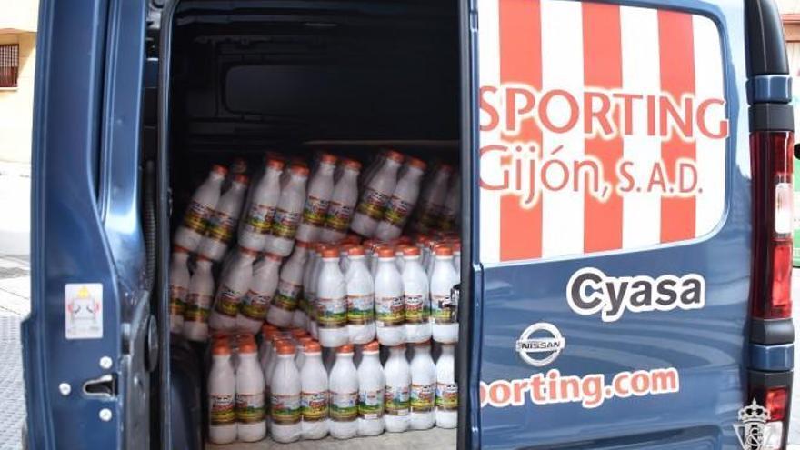 La Fundación del Sporting reparte 16 toneladas de alimentos durante la pandemia