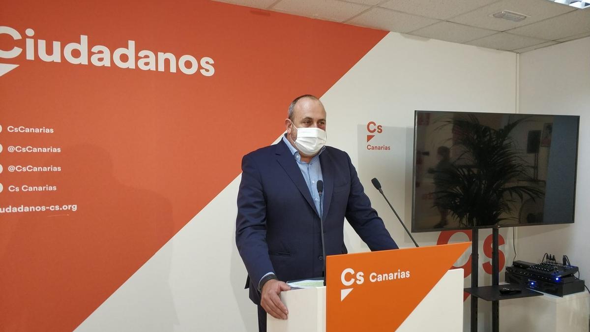 El coordinador autonómico de Ciudadanos (Cs), Enrique Arriaga.