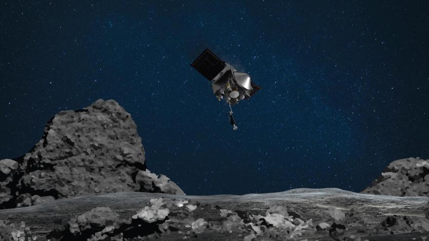 Una sonda de la NASA recoge muestras de un asteroide por primera vez en su historia