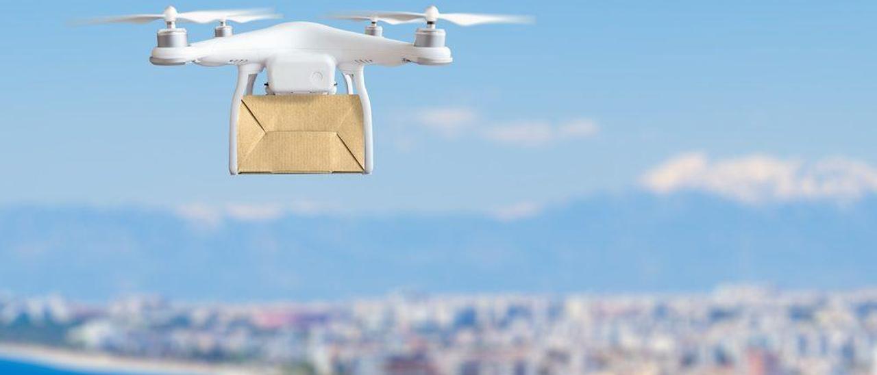 El uso de drones para el reparto de mercancías está prohibido.