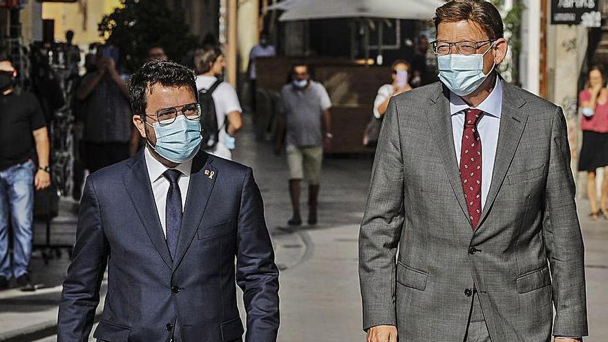 Aragonès i Ximo Puig s'alien per reclamar un finançament «just»