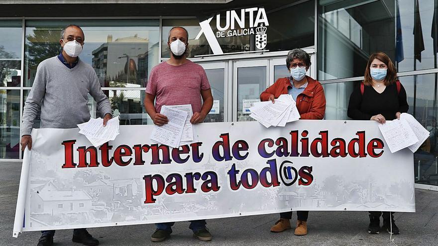 El bloqueo de la fibra condena a 10.000 gondomareños a una internet en precario