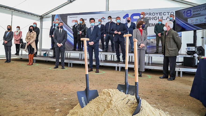 Once pymes construyen una nave conjunta en Mos que consolidará 300 empleos