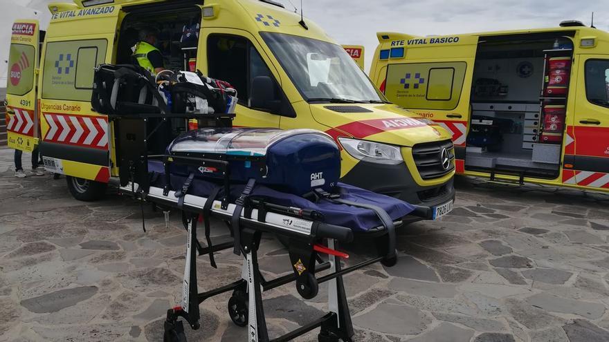 Dos ciclistas heridos, uno de ellos grave, en un accidente en Arucas