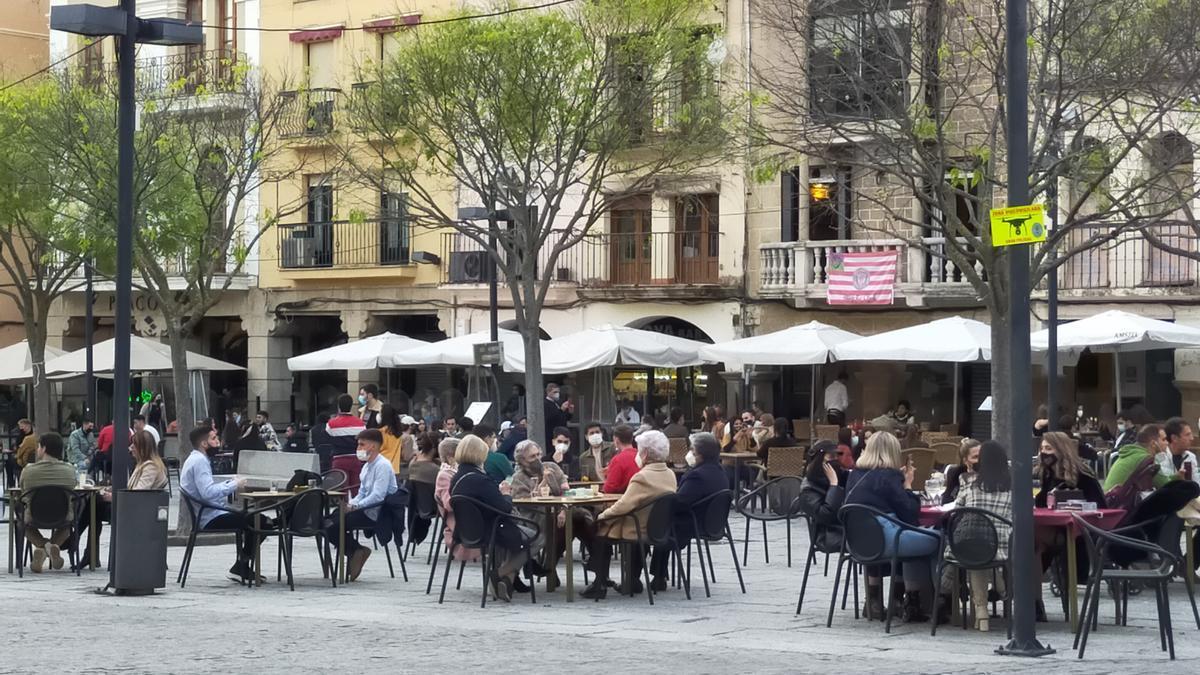 Terrazas de la plaza Mayor.