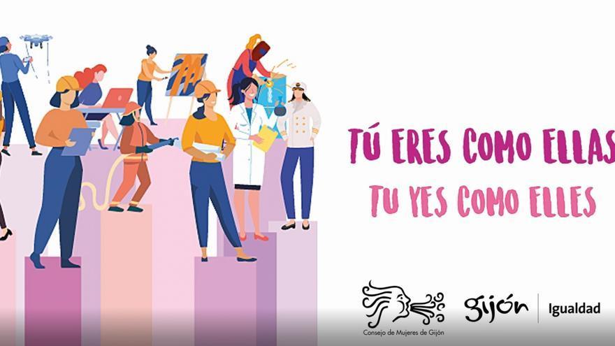 Campaña por el Día Internacional de las Mujeres en Gijón