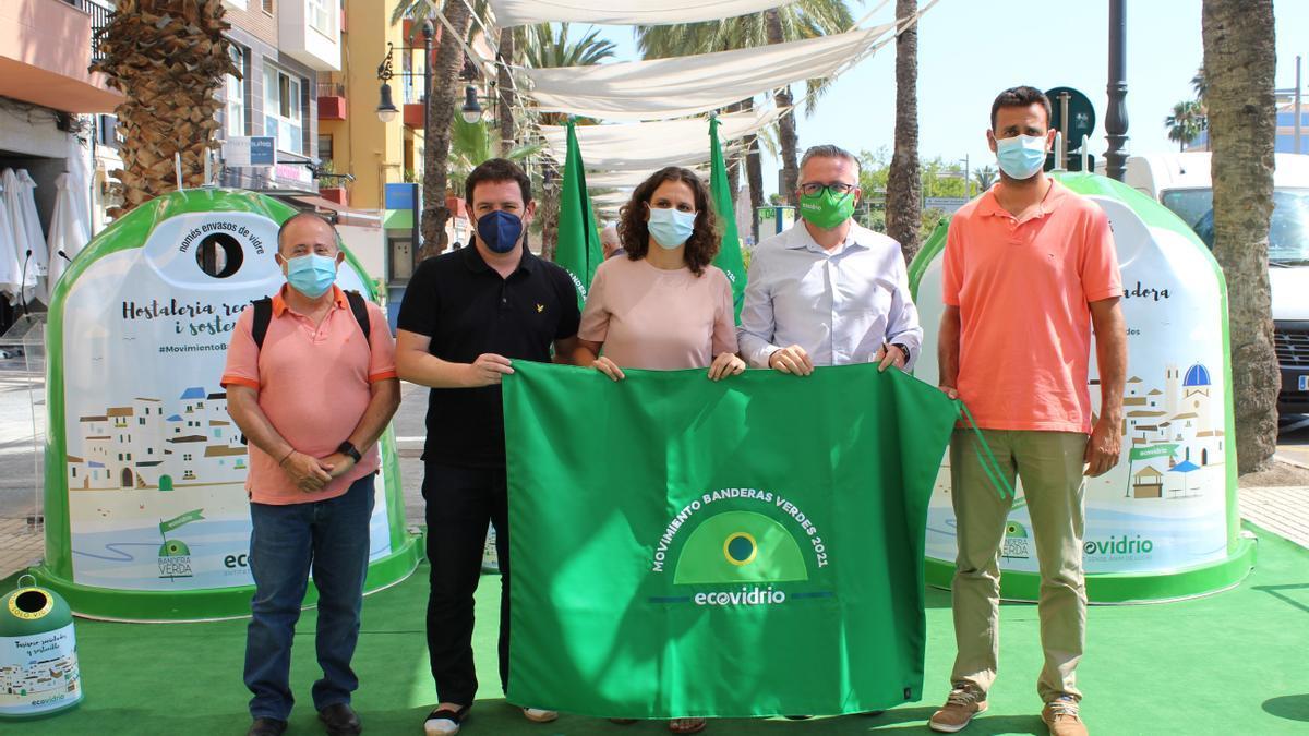 Vicente Colás, Ignasi Garcia, Paula Tuzón, Roberto Fuentes i Héctor Moreno, en la presentació de la iniciativa.