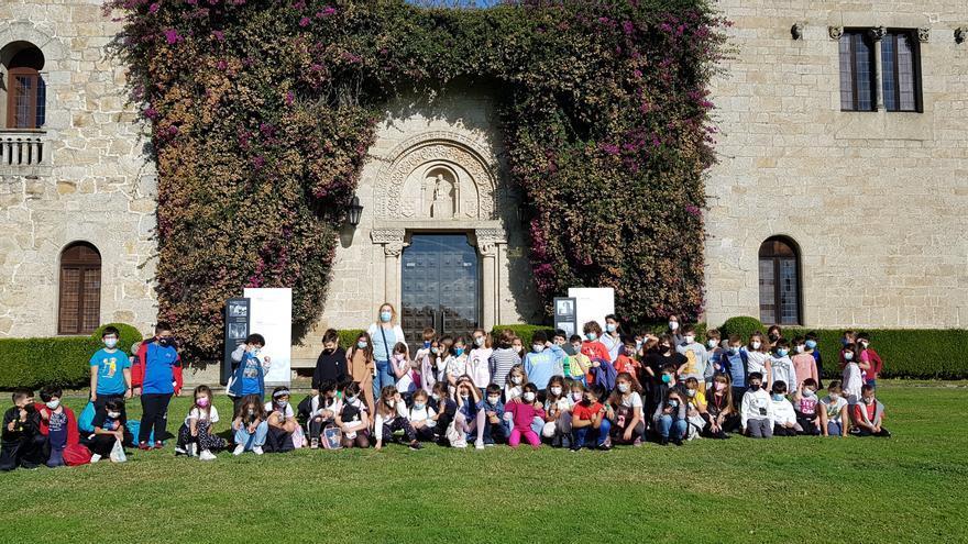 Primeras visitas escolares al pazo de Meirás para conocer su historia