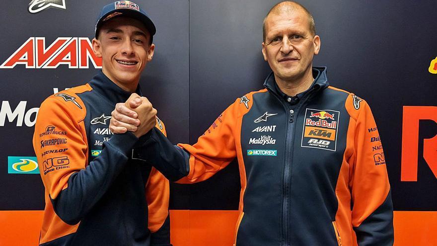 Pedro Acosta estará dos años en Moto2 antes de dar el salto a MotoGP
