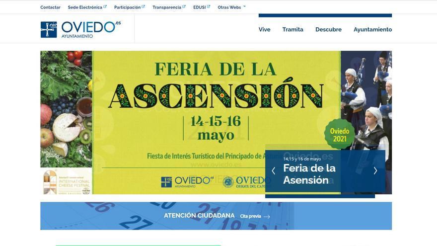 Vuelve a funcionar la web del Ayuntamiento de Oviedo