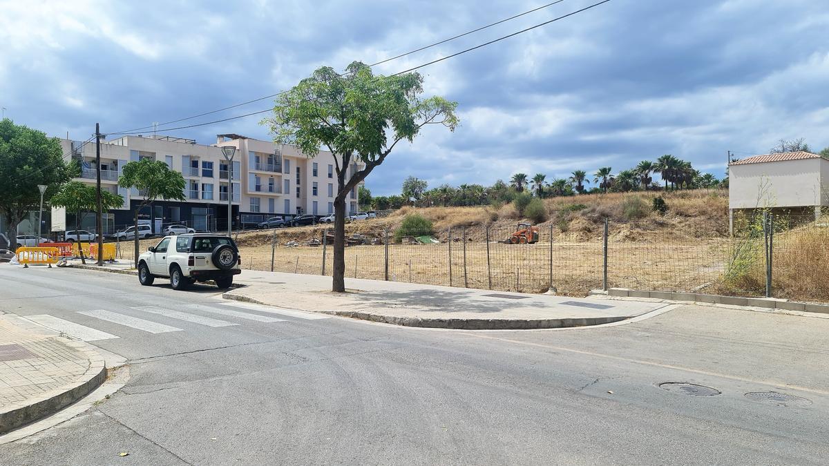 Imagen del espacio que se habilitará en la avenida de Alcúdia.