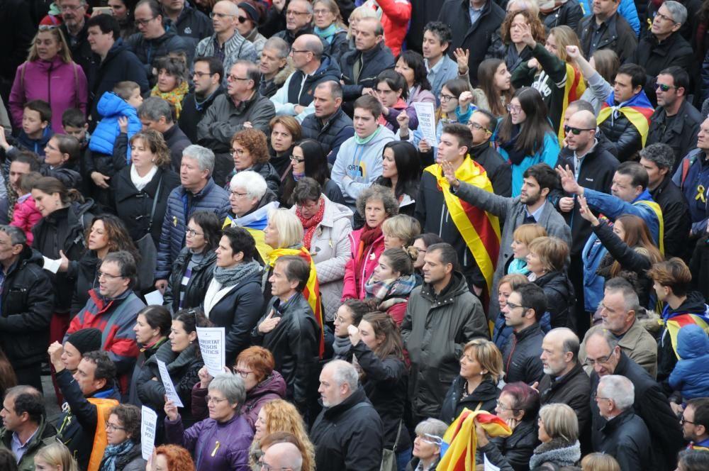 Manifestació per l'empresonament dels exconsellers, a Manresa
