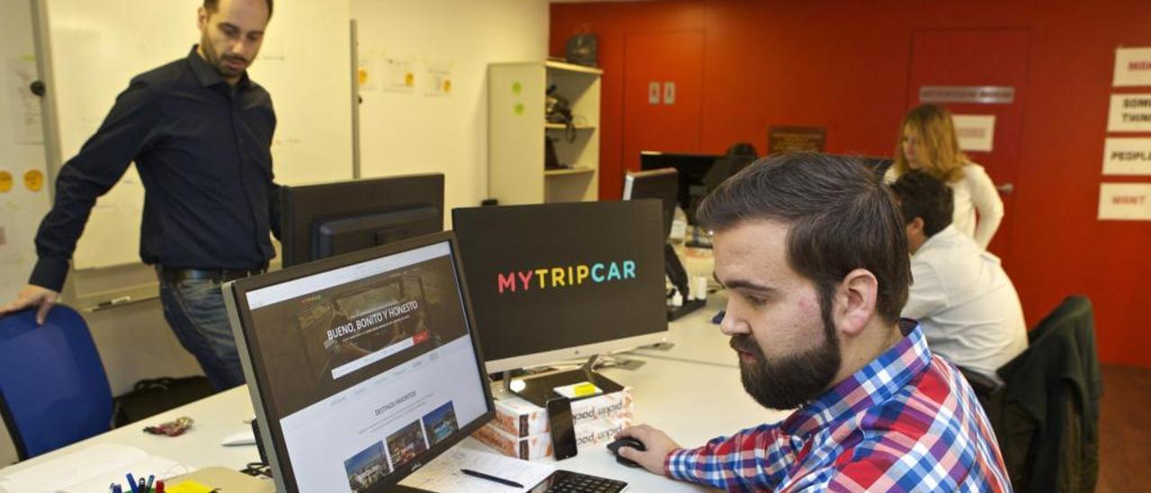 Las oficinas de MyTripCar en Alicante, en una imagen de archivo.
