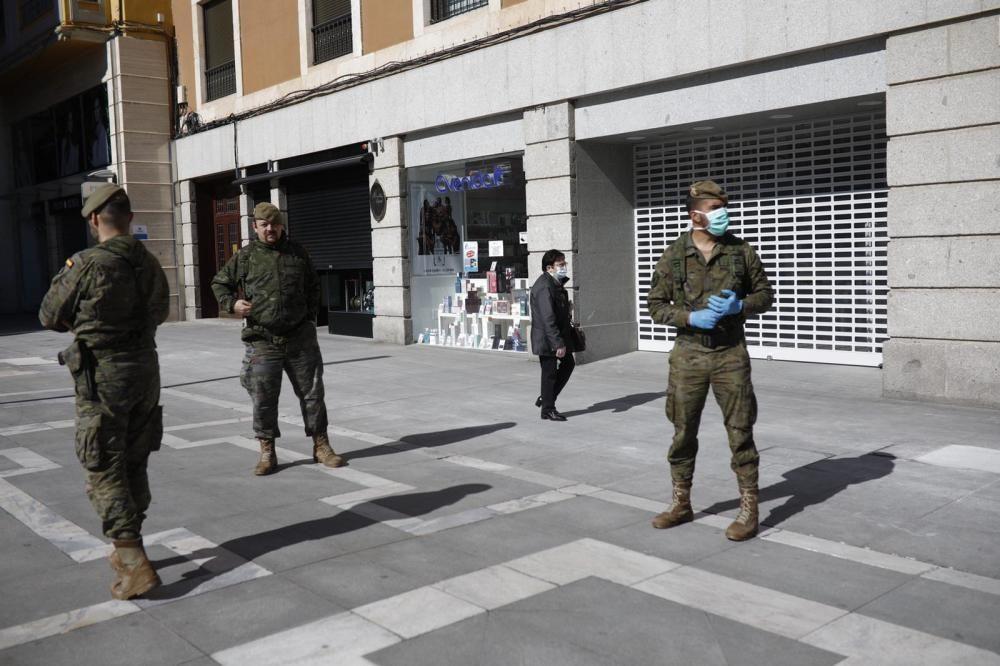 El Regimiento de Artillería y Lanzacohetes patrulla Zamora