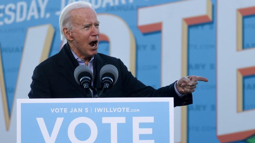 """Biden, """"muy optimista"""" sobre las posibilidades en Georgia"""
