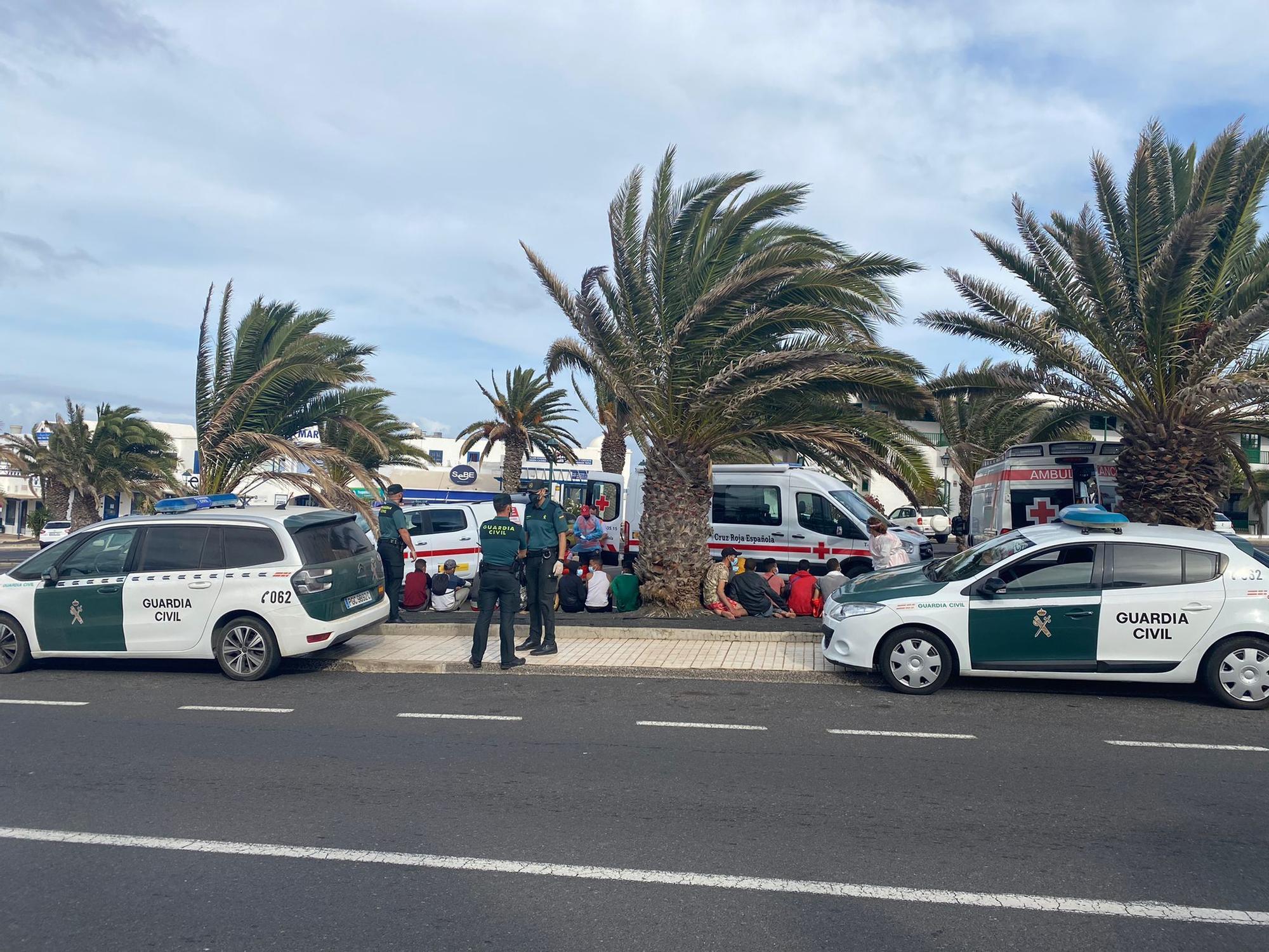 Migrantes localizados en Costa Teguise