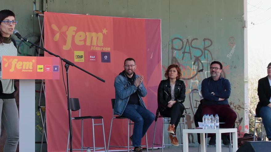 L'acte central de campanya de Fem Manresa, dimecres al Teatre Conservatori