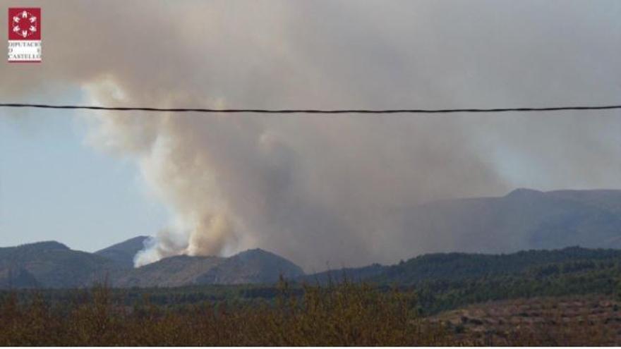 """Importante despliegue en Bejís para sofocar un incendio que """"avanza con fuerza y está descontrolado"""""""