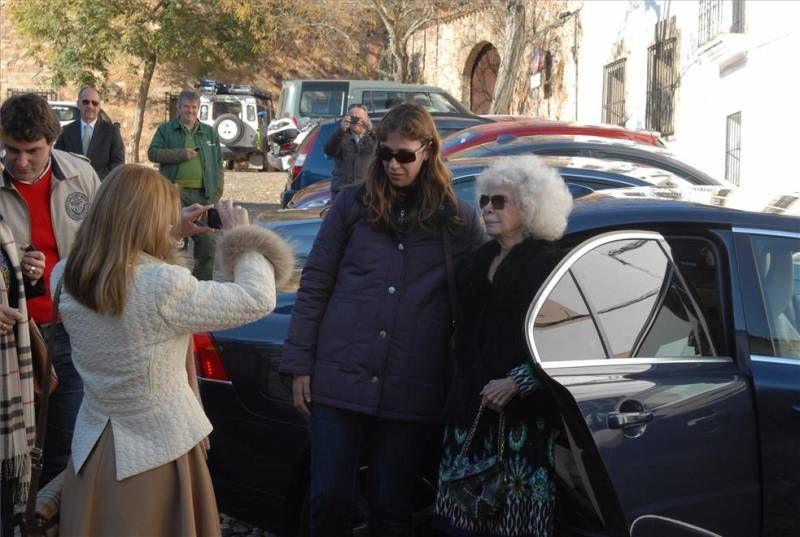 La duquesa de Alba en Extremadura