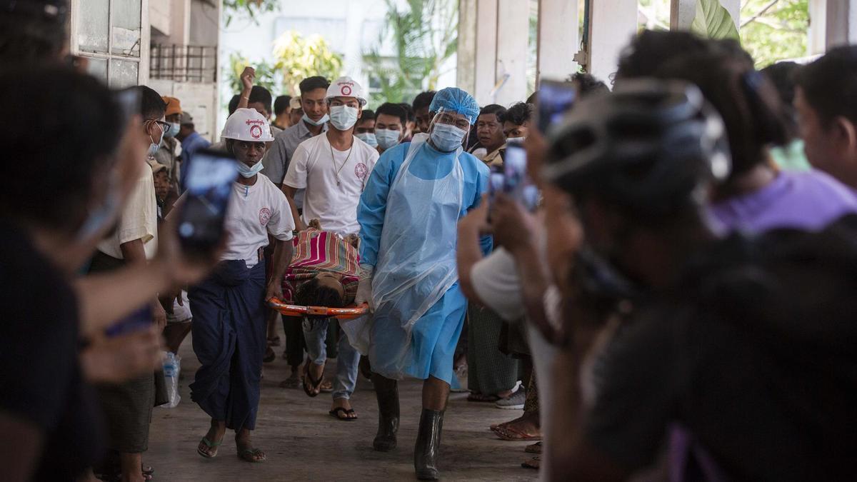 Uno de los manifestantes muertos en Rangún durante la represión de las protestas contra el golpe de Estado en Birmania.