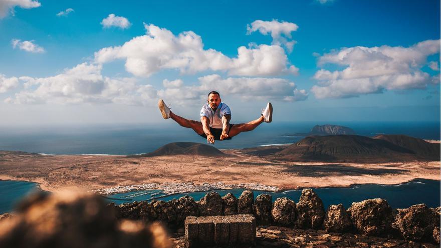 El espectacular salto de un gimnasta canario que nadie en el mundo había hecho antes