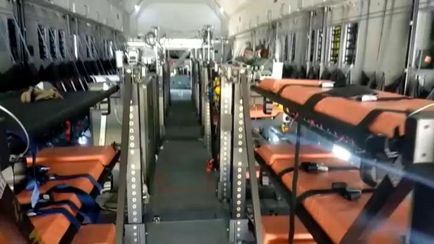 El Ejército del Aire adapta un avión para convertirlo en un hospital volante