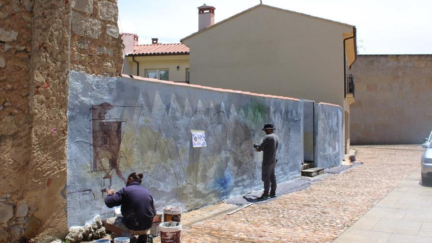 El muralismo de Zamora aterriza en el casco histórico de la ciudad