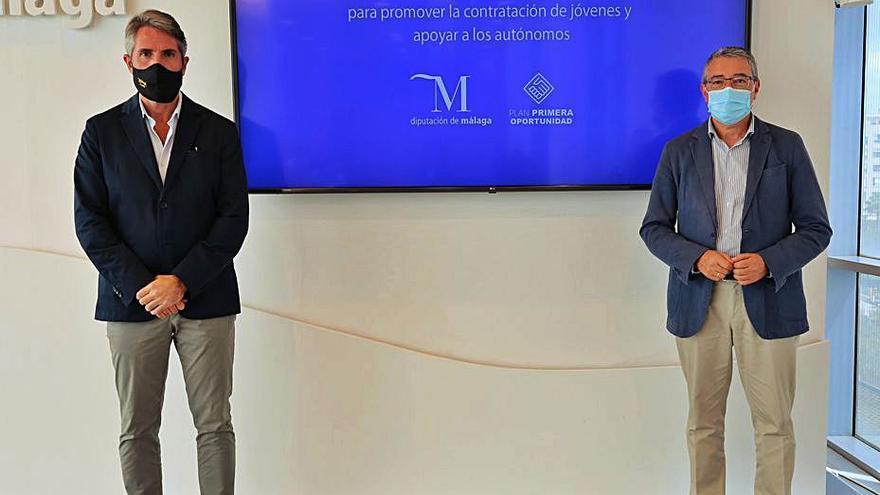 La Diputación de Málaga destina 2,8 millones para empleo juvenil y autónomos