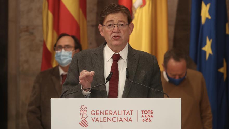 Puig comparece en la sesión del control del pleno de las Corts