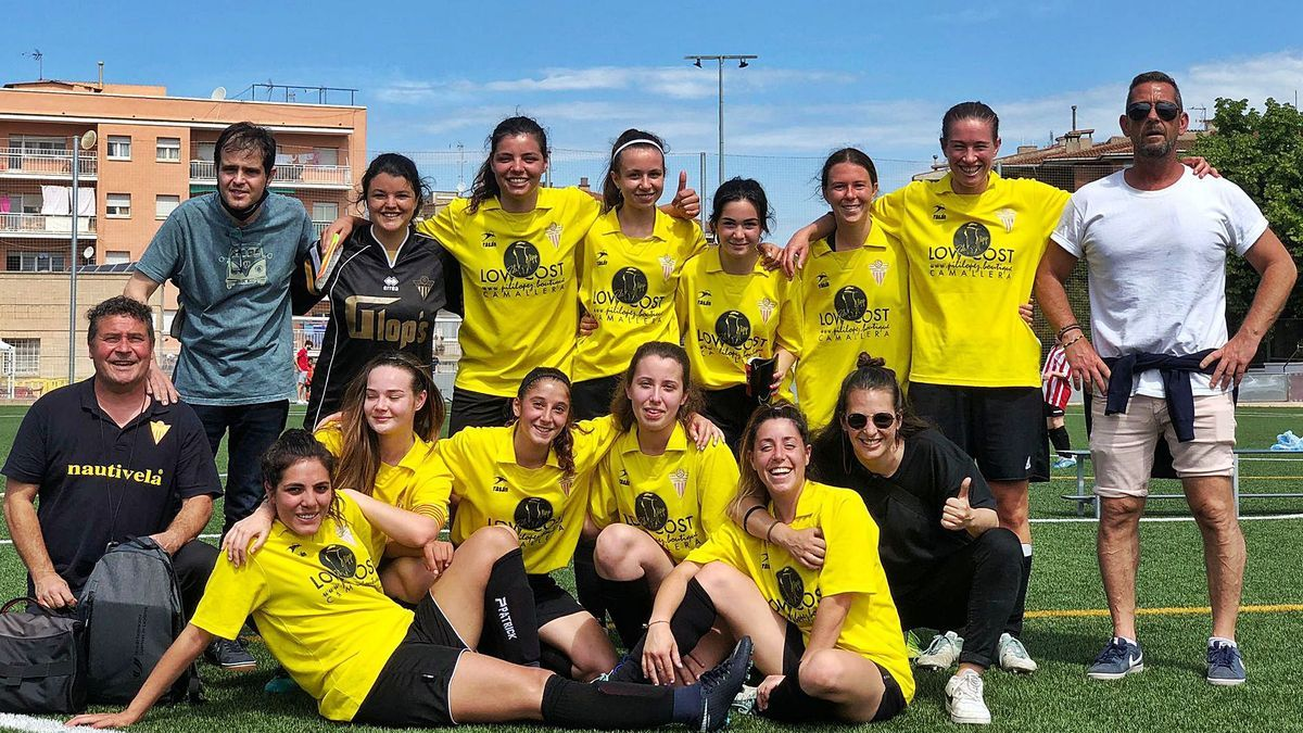 L'equip va celebrar el Campionat de Catalunya de Futbol 7 al camp del Montmeló