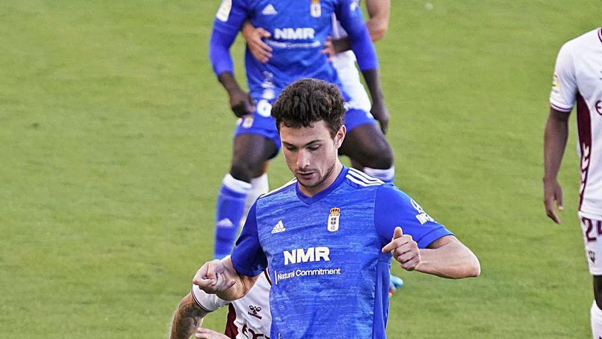 Borja, en el partido ante el Albacete.