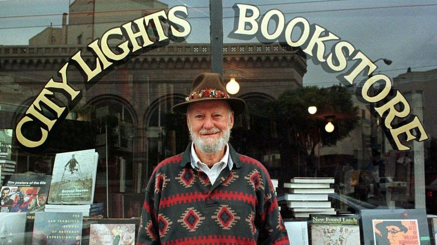 Muere Lawrence Ferlinghetti, el último beat