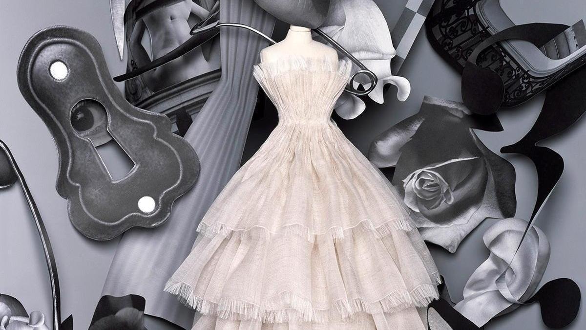 """Imagen de uno de los diseños del """"fashion film"""" de Dior en París."""