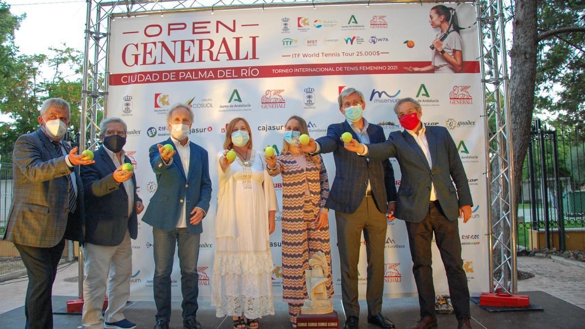 Un momento de la presentación del Open Generali Ciudad de Palma del Río 2021 de tenis femenino.