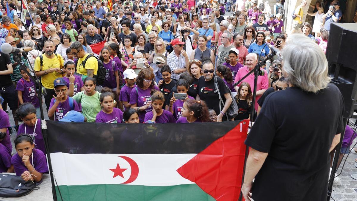 Festa de rebuda dels nens sahrauís a Girona, foto d'arxiu