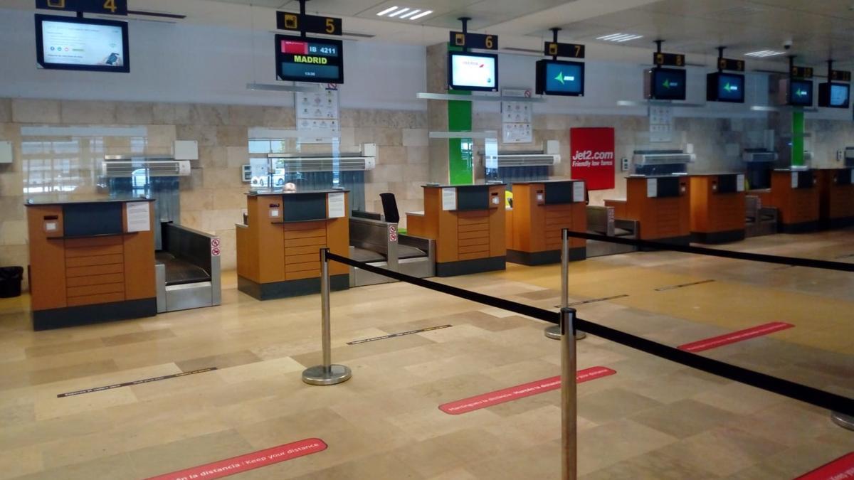 Algunes de les mesures adoptades a l'aeroport gironí