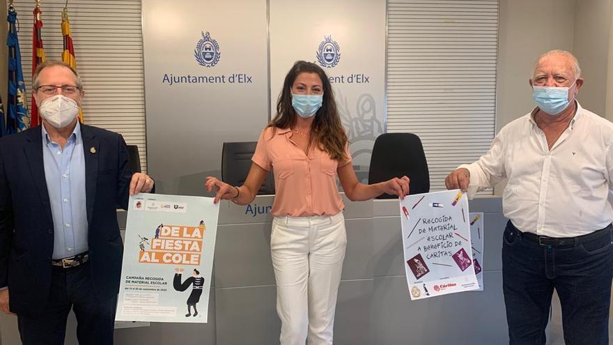 Recogida solidaria de material escolar en Elche para los más golpeados por la pandemia