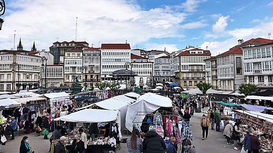 Feria del 1 de mayo en Betanzos con gran participación
