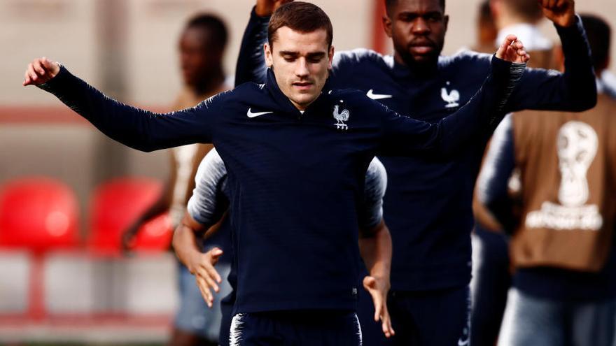 Francia entrena por última vez antes de la gran final del Mundial de Fútbol de Rusia
