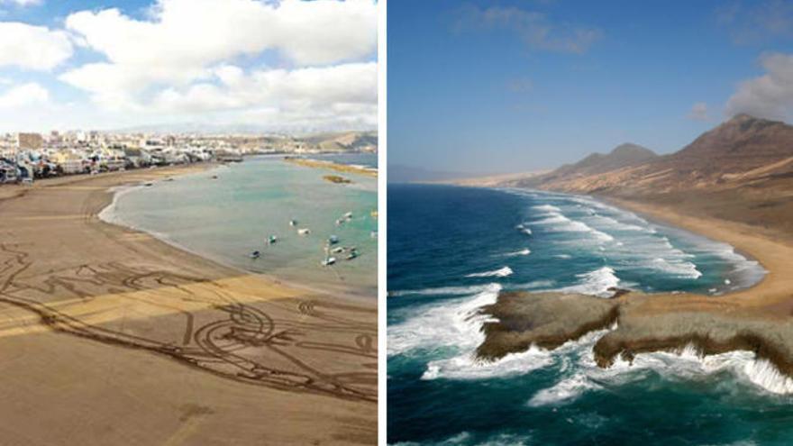 Dos playas de Las Palmas, entre las mejores de España