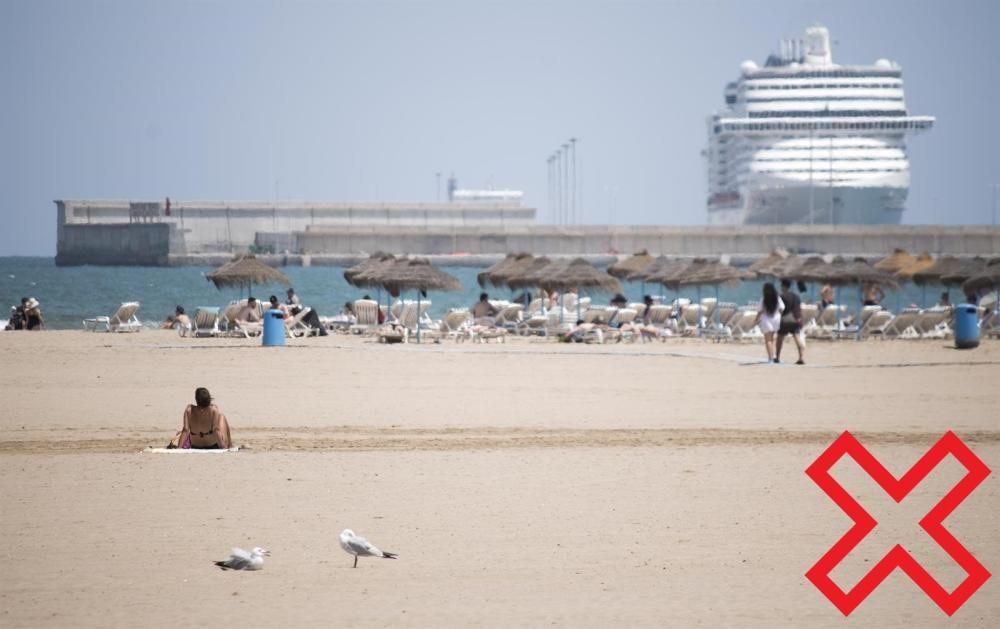 Playa del Puerto en València.