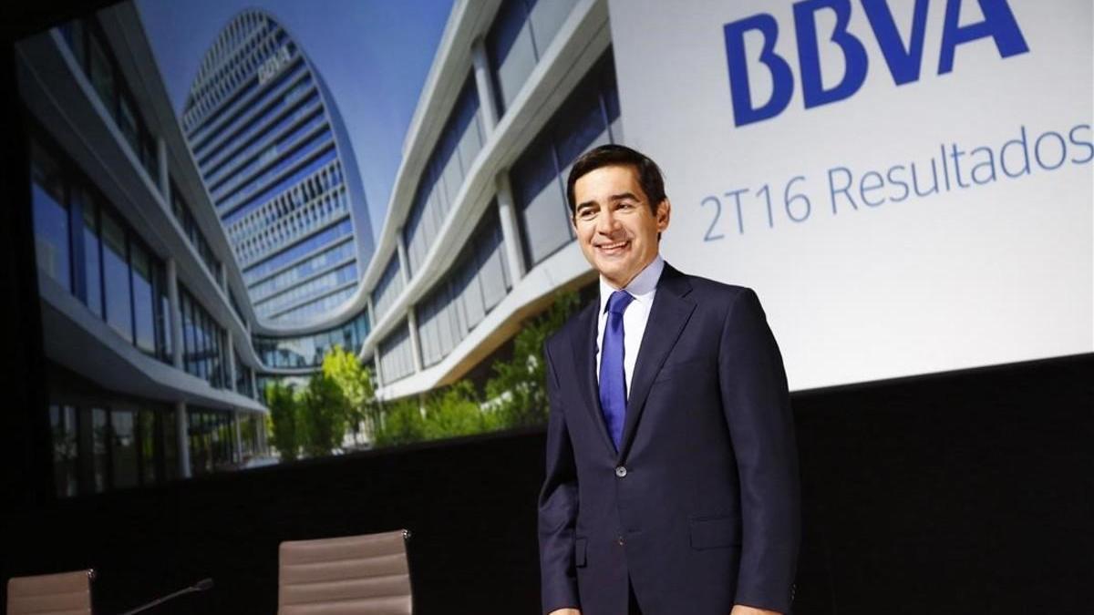 El BBVA registra pérdidas de 1.157 millones en el primer semestre