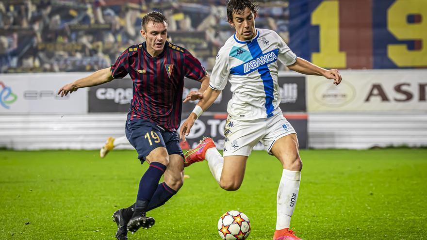El Dépor juvenil cae en Polonia y tendrá que remontar tres goles en Riazor