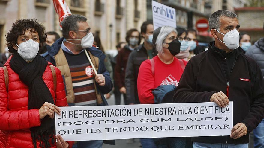 Los investigadores salen  a la calle para exigir el fin de la precariedad laboral