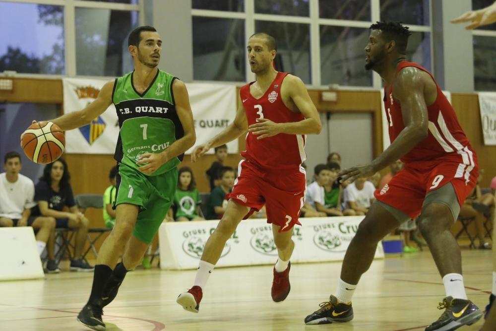 El Bàsquet Girona imposa el seu físic per guanyar el primer amistós a Quart