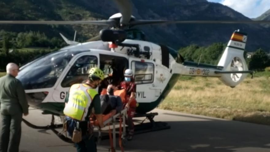 La Guardia Civil realiza nueve rescates de montaña en Huesca este fin de semana