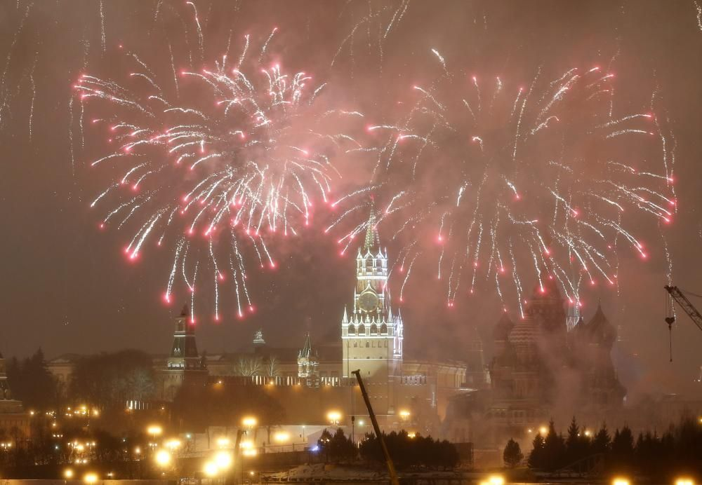 New Year's Eve celebration in Moscow