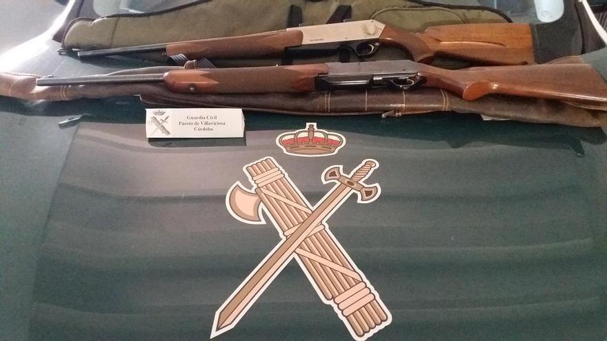 Detenidas dos personas tras una montería en Villaviciosa por carecer de licencia de armas